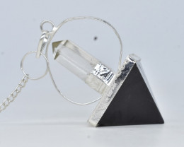 130.00 CT Pendulum for Healing made with Natural Gemstone BLACK ONYX C70