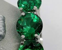 Emerald Trilogy Ring 3.20 TCW