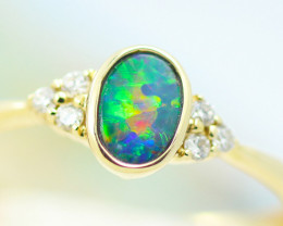 14k Doublet Opal Ring OPJ 2574
