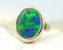 14k Doublet Opal Ring OPJ 2575