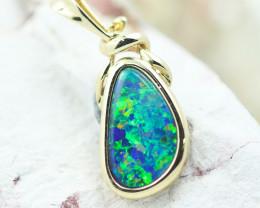 14k Doublet Opal Pendant OPJ 2577