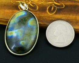 Genuine 80.00 Cts Amazing Flash Labradorite Pendant