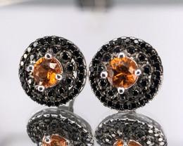 Natural Orange Spessarite Garnet  in 925 Silver byDANI Jewellery