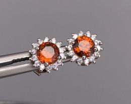 Natural Orange Spessarite Garnet in 925 Silver by DANI Jewellery