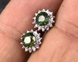 Natural Green Sapphire in 925 Silver by DANI Jewellery