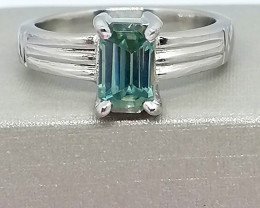 Blue Diamond Solitaire Ring 1.30cts.
