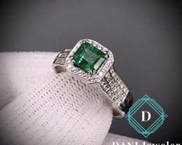 Emerald 925 Silver Ring by DANI Jewellery