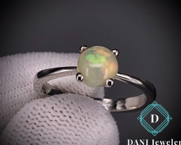 Natural Fire Opal 925 Silver Ring by DANI Jewellery