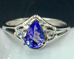 Natural Tanzanite Gemstone Beautiful Silver925 Ring. DTZ 139