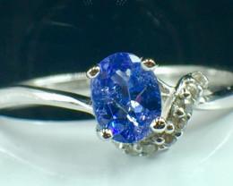 Natural Tanzanite Gemstone Beautiful Silver925 Ring. DTZ 140