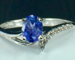 Natural Tanzanite Gemstone Beautiful Silver925 Ring. DTZ 141