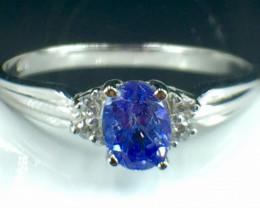 Natural Tanzanite Gemstone Beautiful Silver925 Ring. DTZ 142