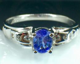 Natural Tanzanite Gemstone Beautiful Silver925 Ring. DTZ 144