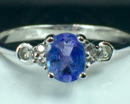 Natural Tanzanite Gemstone Beautiful Silver925 Ring. DTZ 145