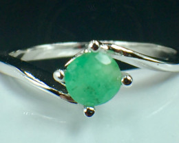 Natural Emerald Gemstone. Silver925 Ring. DED 147