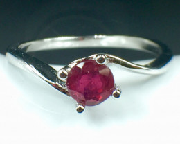 Natural Ruby Good Quality Gemstone. Silver925 Ring. DRB 153