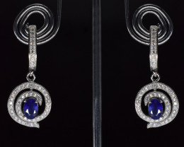 EXCLUSIVE EARRINGS Made with Genuine IOLITE  and Sterling Silver GE118