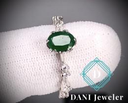 Emerald 925 Silver Ring by DANI Jewellery