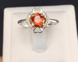 Spessartite garnet beautiful ring.