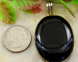 Genuine 123.00 Cts Agate Tibet Silver Pendant
