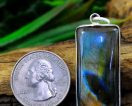 Genuine 42.00 Cts Amazing Flash Labradorite Pendant