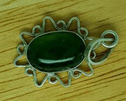 13 CT Rare Idocrase 925 Silver Pendant