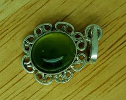 12.35 CT Rare Idocrase 925 Silver Pendant