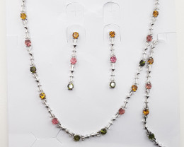 Top Tourmaline Full Set in Silver 925.