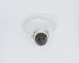 RUTILAED RING 925 STERLING SILVER NATURAL GEMSTONE JR555