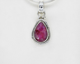 RUBY PENDANT 925 STERLING SILVER NATURAL GEMSTONE JP183
