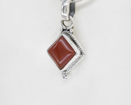 CARNELIAN PENDANT 925 STERLING SILVER NATURAL GEMSTONE JP179