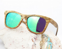 Wooden Sunglasses Green Polarized Lens Eyewear - Sunglasses - SUN 10