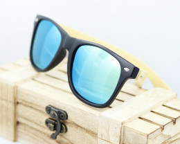 Square Vintage Wood Eyewear GREEN - Sunglasses - SUN 13