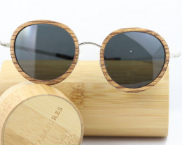 Oval Polarized Wood in Wooden - Sunglasses - SUN 19