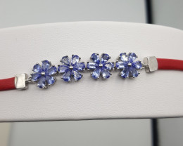 Natural Tanzanite Bracelet.