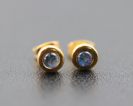 Australian  Opal Triplet Earrings  OPJ 2555