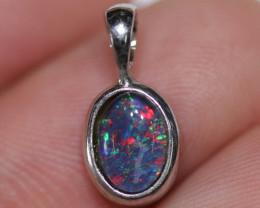 Australian  Opal Triplet Pendant .925 silver  OPJ 2557