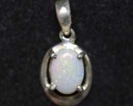 Australian  Opal solid  crystal Pendant .925 silver  OPJ 2560