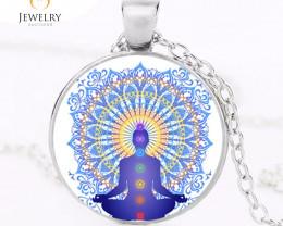 Om 7 Chakra Reiki Healing Buddha Yoga Meditation Pendant OPJ 2565