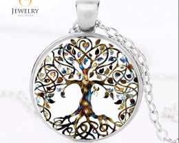 Natures  Tree Life Art Pendant  Pendant for M or F OPJ 2581