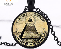 symbol masonic illuminati antique print Pendant   OPJ2621