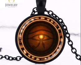 The Eye of Horus necklace Runes Pendant   OPJ2635