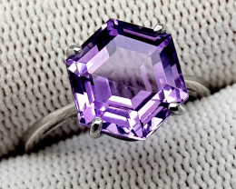 Natural Purple Amethyst 925 Sterling Silver Ring (NJT82)