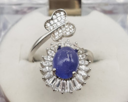 Beautiful Tanzanite Cab Ring.