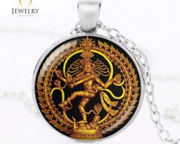 Golden Buddha Dance of Destruction Lord Shiva Pendant OPJ 2629