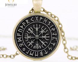 Vegvisir Viking Compass pendant OPJ 2640