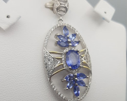 Natural Tanzanite Pendant.