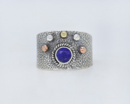LAPIS RING 925 STERLING SILVER NATURAL GEMSTONE JR561