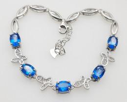 High Quality Natural Blue Topaz Bracelet