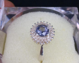 Beautiful Natural Blue Spinel Rings And  Small Zircon